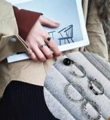韩国冷淡风情侣网红套装戒指尾戒指