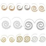欧美夸张漩涡齿轮状耳环 个性多款圆圈螺旋式耳饰