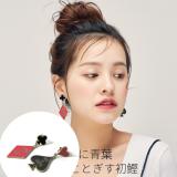 韩国气质潮人个性夸张扑克牌不对称耳钉