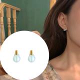 韩国个性炫彩灯泡精致小耳钉