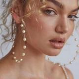 欧美跨境新款大圆圈创意复古珍珠耳圈
